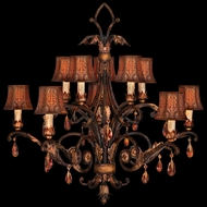 Fine Art Lamps 303940 Brighton Pavillion Medium 10-light Two-tier Classic Chandelier with Shades