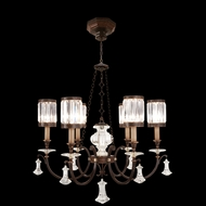 Fine Art Lamps 584240 Eaton Place Tall 6-light Crystal Shade Traditional Chandelier Lighting