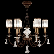 Fine Art Lamps 595440 Eaton Place Short 6-lamp Crystal Antique Chandelier with Shades