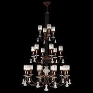 Fine Art Lamps 584840 Eaton Place Extra Large 20-lamp Traditional Crystal Chandelier in Bronze or Silver Leaf