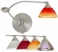 Besa Domi Double Swing-arm Wall Lamp with Multiple Glass Options