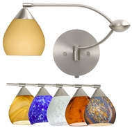 Besa Tay Tay Double Swing-arm Wall Lamp - Variety of Glass Choices