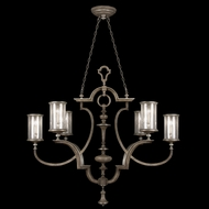 Fine Art Lamps 806740 Villa Vista Traditional 6-light Oblong Chandelier with Glass Shades