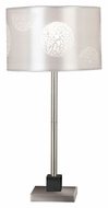 Kenroy Home 20962BS Cordova Transitional Brushed Steel Table Top Lamp - 26 Inches Tall