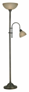 Kenroy Home 20995BH Callahan Transitional Bronze Heritage Torchiere Lamp With Reading Light