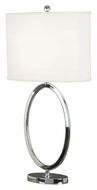 Kenroy Home 21030CH Oke Chrome Finish 31 Inch Tall Modern Table Lamp