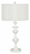 Kenroy Home 21033WH Claiborne Transitional White Gloss 28 Inch Tall Table Lighting