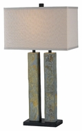 Kenroy Home 21039SL Barre Natural Slate Finish 2 Lamp 30 Inch Tall Table Lighting