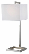 Kenroy Home 21079BS 4 Square Brushed Steel 30 Inch Tall Modern Table Lamp