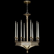 Fine Art Lamps 805640 Candlelight 21st Century Medium 12-lamp Candelabra Chandelier in Silver or Gold