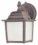 Maxim 86924RP Side Door EE Small Fluorescent Rust Patina Outdoor Wall Sconce