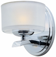 Maxim 19051FTPC Elle Modern Chrome Wall Sconce Lighting