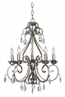 Kenroy Home 91345WS Antoinette 5-Light Chandelier