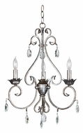 Kenroy Home 91343WS Antoinette 3-Light Mini Chandelier