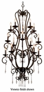 Kalco 3073 Palladium 15-Light Candle Foyer Chandelier