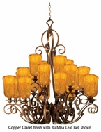 Kalco 4274 Ibiza 20-Light Traditional Glass Chandelier