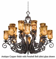 Kalco 4264 Ibiza 16-Light Traditional Glass Chandelier