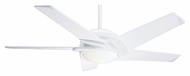 Casablanca 64824 Stealth 54 Inch Span Snow White Finish Modern Ceiling Fan With Blade Options