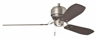 Casablanca 59501 Tribeca 4 Speed Pull Chain Brushed Nickel Ceiling Fan With Reversible Blades