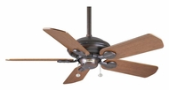 Casablanca 77546D Utopian Damp-Rated 5 Blade Transitional Home Ceiling Fan - Brushed Cocoa
