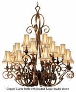 Kalco 4273 Ibiza 20-Light Traditional Candle Chandelier