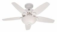 Casablanca 60584 Bel Air 55 Inch Span Transitional Snow White Finish Ceiling Fan With Blade Options
