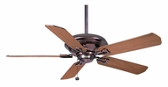 Casablanca 64934 Brescia Weathered Copper Finish Transitional Ceiling Fan With Blade Options
