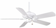 Casablanca 54028 Capistrano Snow White Finish Ceiling Fan With Blade Options