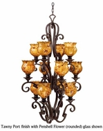 Kalco 4039 Ibiza 12-Light Traditional Glass Foyer Chandelier