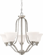 Kichler 1783NI Langford Brushed Nickel Contemporary 5-Light Chandelier