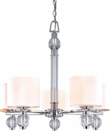 Troy F1585PC Bentley 5 Light White and Chrome Chandelier