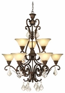 Artcraft AC1829 Florence 9-Light Chandelier