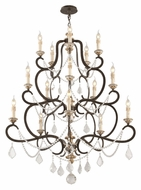 Troy F3517 Bordeaux Large Parisian Bronze 43 Inch Diameter 6 Candle French Chandelier