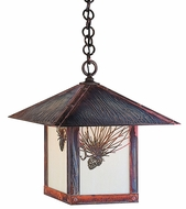 Arroyo Craftsman EH-16 Evergreen Craftsman Indoor/Outdoor Hanging Pendant Light - 16 inches wide