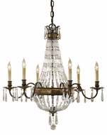 Feiss F2461-6OBZ-BRB Bellini Six Lamp Chandelier