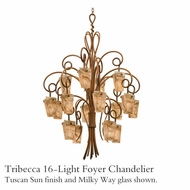 Kalco 4299 Tribecca 16-Light Foyer Glass Chandelier