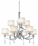 Kichler 42633CH Parker Point 9-light Chandelier with Chrome and Crystal