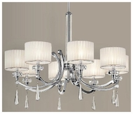 Kichler 42632CH Parker Point 8-light Wide Single-tier Modern Chandelier