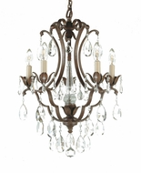 Feiss F1882-5-BRB Maison de Ville Traditional 5-light Chandelier in British Bronze