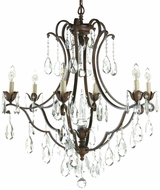 Feiss F1883-6-BRB Maison de Ville Traditional 6-light 28 inch Chandelier in British Bronze