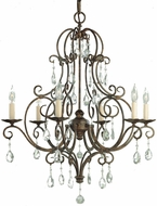Feiss F1902-6-MBZ Chateau 6-light 25 inch Chandelier in Mocha Bronze