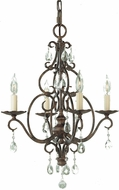Feiss F1904-4-MBZ Chateau 4-light Chandelier in Mocha Bronze