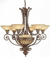 Feiss F1919-6-1-BRB Stirling Castle 7-light 36 inch Chandelier in British Bronze