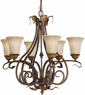 Feiss F2076-6-ATS Sonoma Valley 6-light 31 inch Aged Tortoise Shell Hanging Light