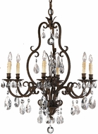 Feiss F2228-6ATS Salon MA Maison 6 Light Tortoise Shell Chandelier