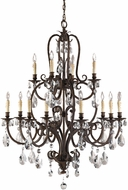 Feiss F2229-8-4ATS Salon MA Maison 12 Light Tortoise Shell Chandelier