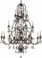 Feiss F2230-8-4-4ATS Salon MA Maison 16 Light Tortoise Shell Chandelier