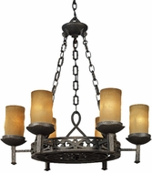 Quoizel LP5006IB La Parra 6-Light Antique Chandelier in Imperial Bronze