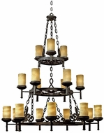 Quoizel LP5018IB La Parra 18-Light Antique Chandelier in Imperial Bronze