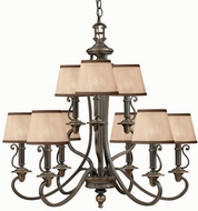 Hinkley 4248OB Plymouth Bronze 9 Light Traditional Chandelier